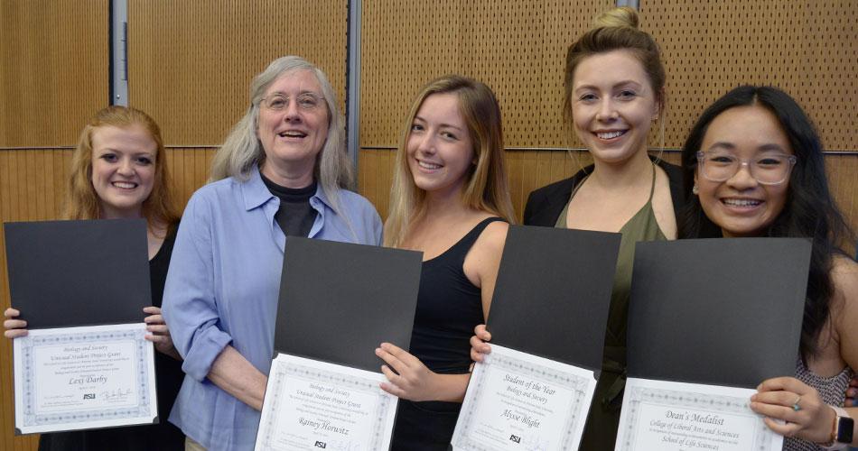 Jane Maienschein with award winners